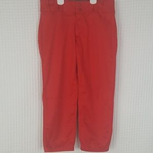 Mens red Under Armour baseball pants